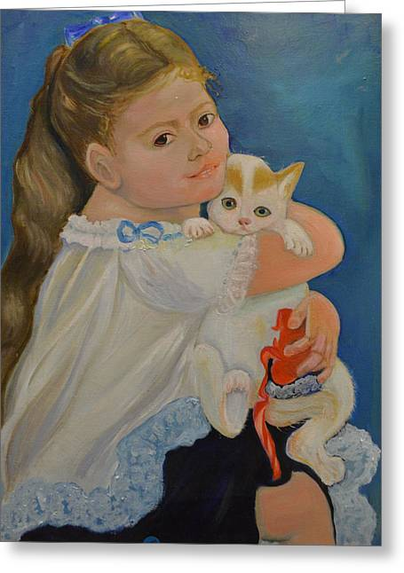 Same Dress Greeting Cards - I love my kitty Greeting Card by Karen Norberg