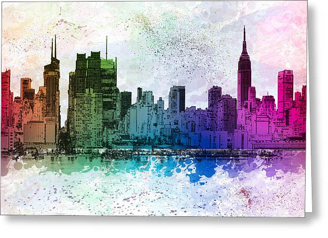 Cityscapes Greeting Cards - I Love New York Greeting Card by Susan Candelario
