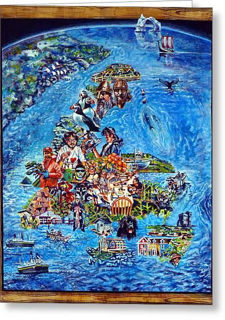 I Love Newfoundland Greeting Card by Michael Gaudet