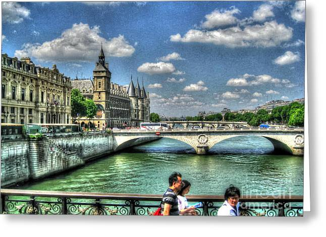 People Pyrography Greeting Cards - i love Paris Greeting Card by Yury Bashkin