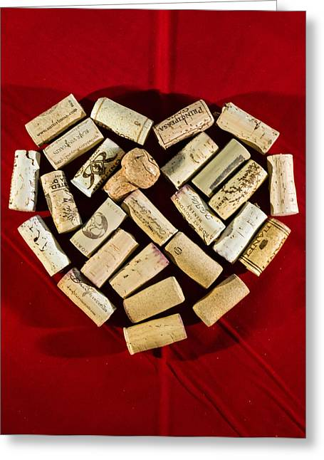 Syrah Greeting Cards - I Love Red Wine - Vertical Greeting Card by Photographic Arts And Design Studio