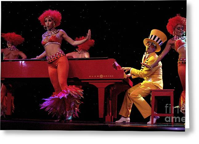 Elton John Greeting Cards - I Love Rock And Roll Music Greeting Card by Bob Christopher