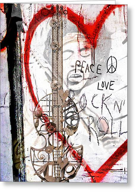 I Love Rocknroll Greeting Card by Joachim G Pinkawa