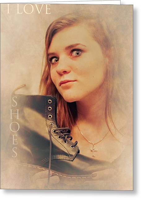 Teen Fashion Greeting Cards - I love shoes Greeting Card by Loriental Photography