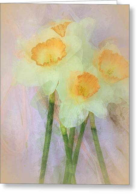 Most Paintings Greeting Cards - I Love the Daffodils... Greeting Card by  The Art Of Marilyn Ridoutt-Greene
