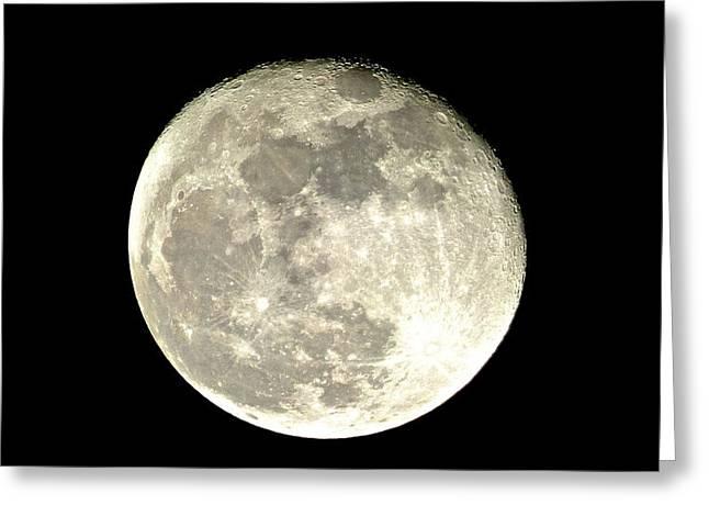 Sea Moon Full Moon Greeting Cards - I Love the Moon Greeting Card by Robert Abbett