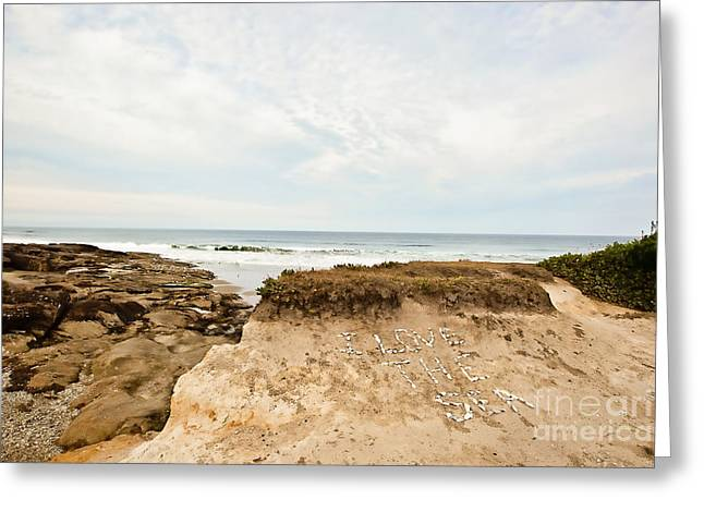 Yachats Greeting Cards - I Love the Sea Greeting Card by Scott Pellegrin