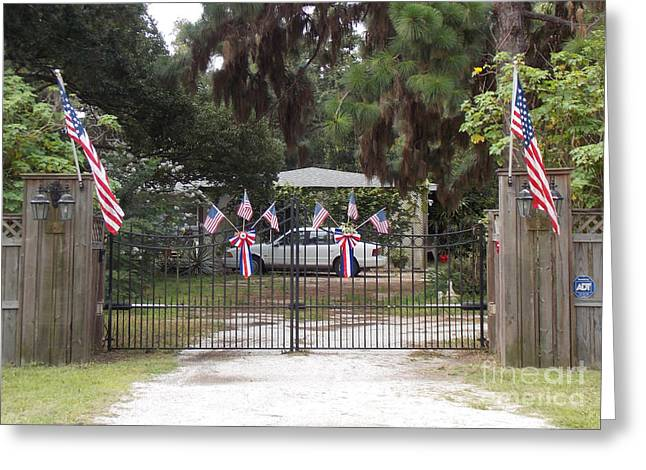4th July Photographs Greeting Cards - I Love The USA  Greeting Card by To-Tam Gerwe