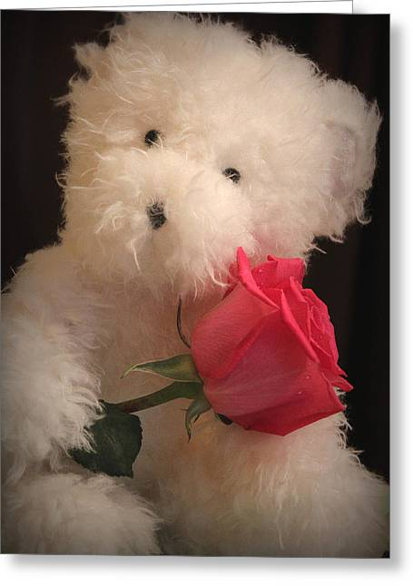 Rose Portrait Greeting Cards - I Love Thee Greeting Card by  The Art Of Marilyn Ridoutt-Greene