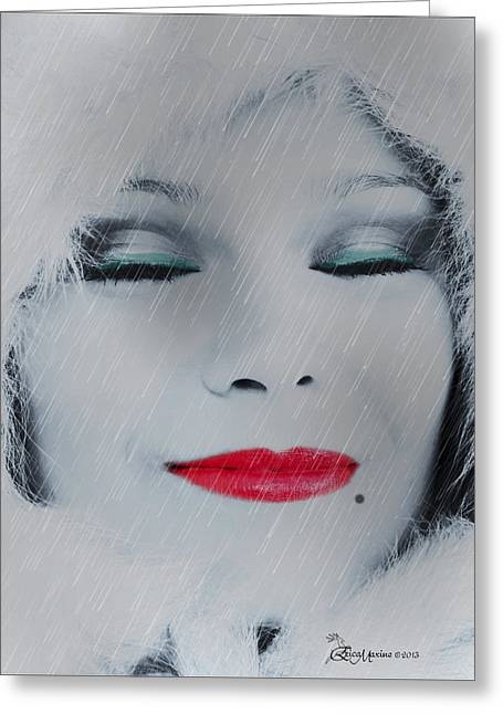 Beauty Mark Digital Greeting Cards - I Love To Smell Fresh Rain Greeting Card by EricaMaxine  Price