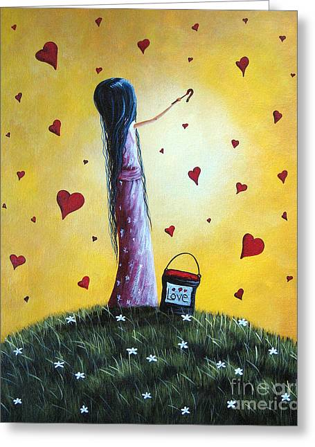I Love You By Shawna Erback Greeting Card by Shawna Erback