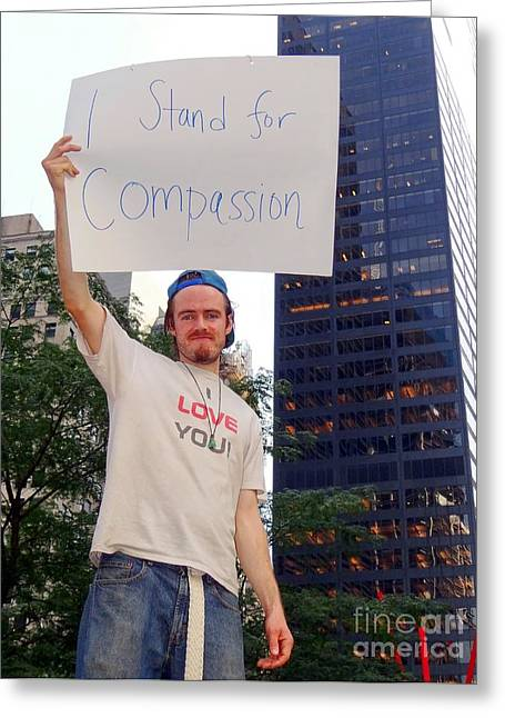 Occupy Greeting Cards - I Love You Greeting Card by Ed Weidman