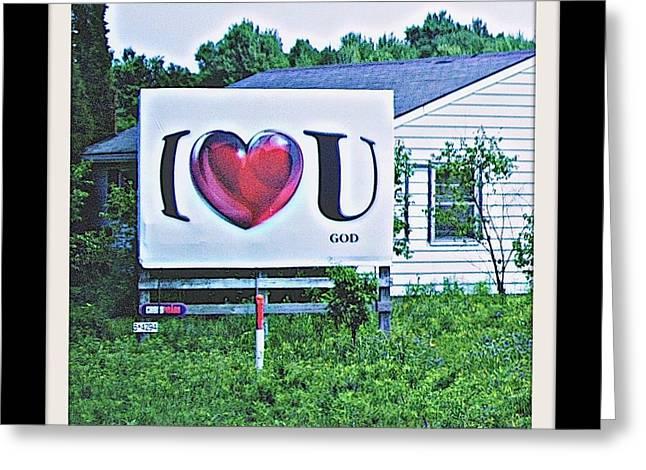 Abandoned School House. Digital Greeting Cards - I Love You.....  God Greeting Card by Rosemarie E Seppala