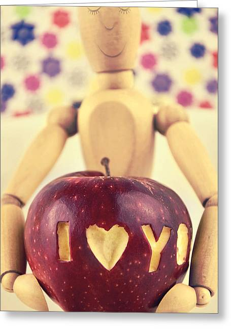 Serve Mixed Media Greeting Cards - I Love You Greeting Card by Gynt