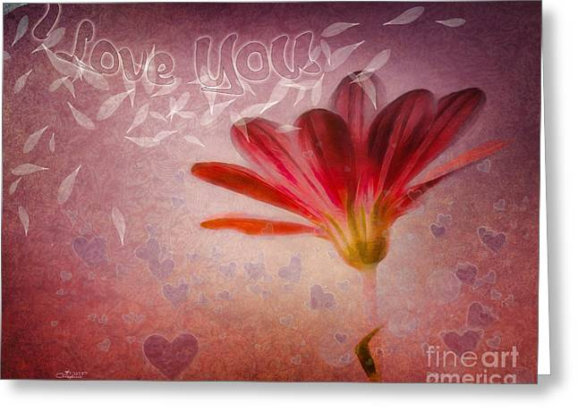 Illustration Of Love Greeting Cards - I Love You Greeting Card by Jutta Maria Pusl