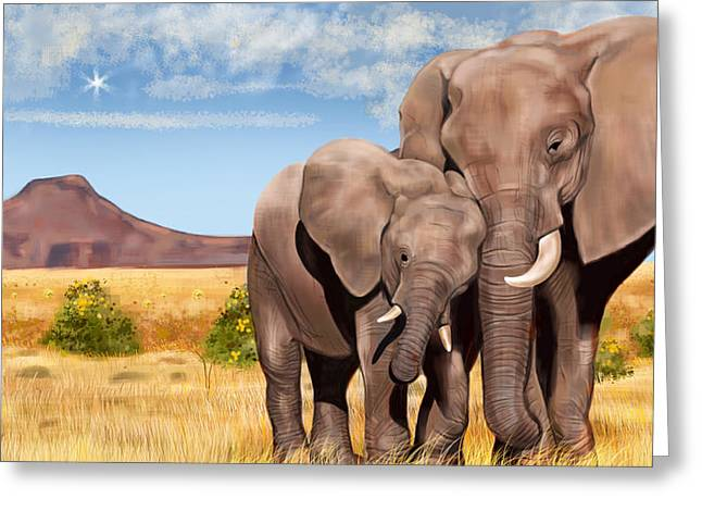 Caring Mother Greeting Cards - I Love You My Son Greeting Card by Arun Sivaprasad