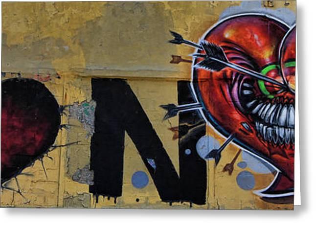 Nyc Graffiti Greeting Cards - I Luv NY Greeting Card by Chuck Kuhn