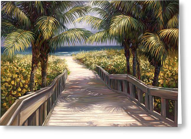 Tropical Beach Greeting Cards - I Need to Go to The Beach Greeting Card by Laurie Hein