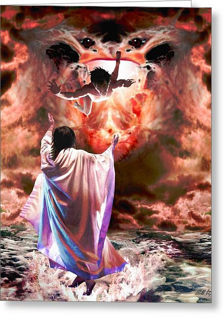 Bible Digital Art Greeting Cards - I Never Knew You Greeting Card by Bill Stephens