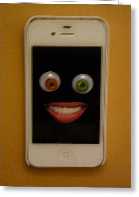 Cellphone Greeting Cards - Eye Phone 4  Greeting Card by Douglas Fromm