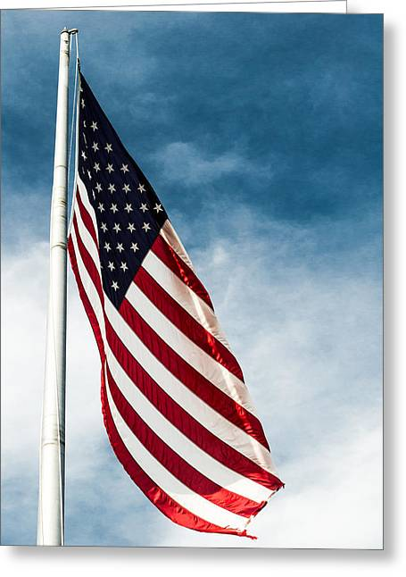 4th July Photographs Greeting Cards - I Pledge Allegiance Greeting Card by Shelby  Young