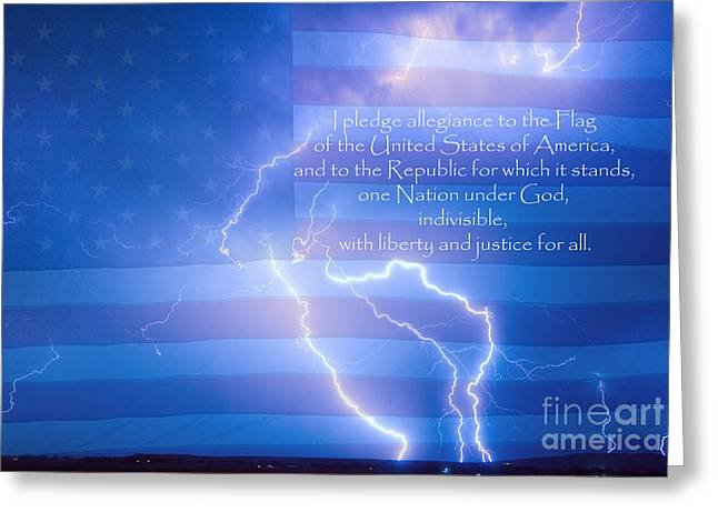 I Pledge Allegiance To The Flag  Greeting Card by James BO  Insogna