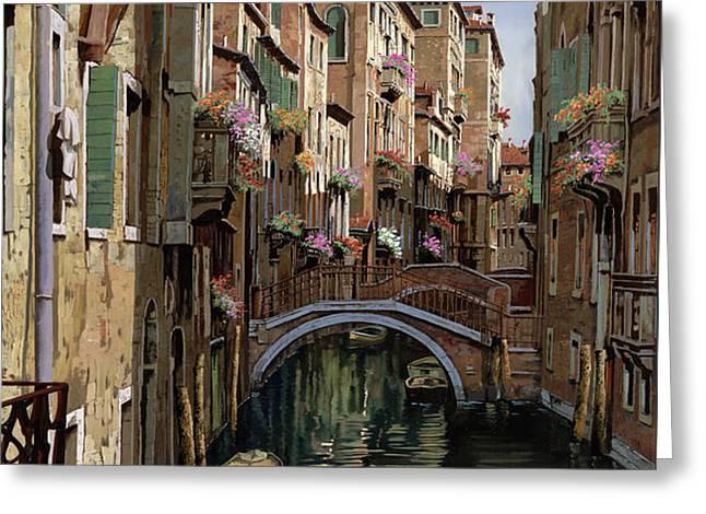 i ponti a venezia Greeting Card by Guido Borelli
