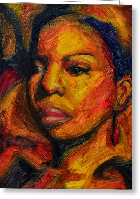Nina Simone Greeting Cards - I Put a Spell on You - Nina Simone Greeting Card by Khairzul MG