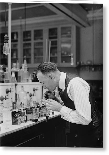 Taster Greeting Cards - I R S Prohibition Test Laboratory 1920 Greeting Card by Daniel Hagerman