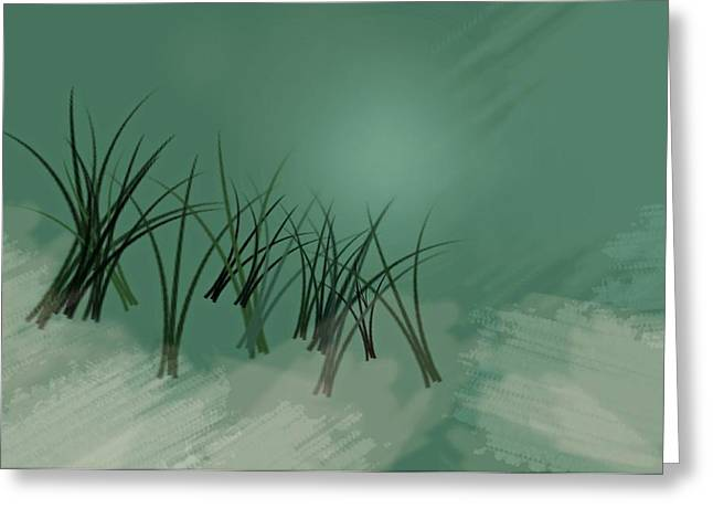 Digital Paint Greeting Cards - Deep Waters Greeting Card by Diana Angstadt