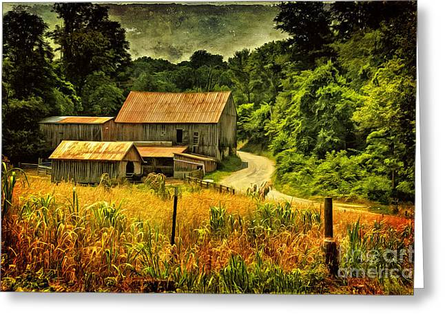 Barn Digital Greeting Cards - I Remember It Was In The Summer Greeting Card by Lois Bryan