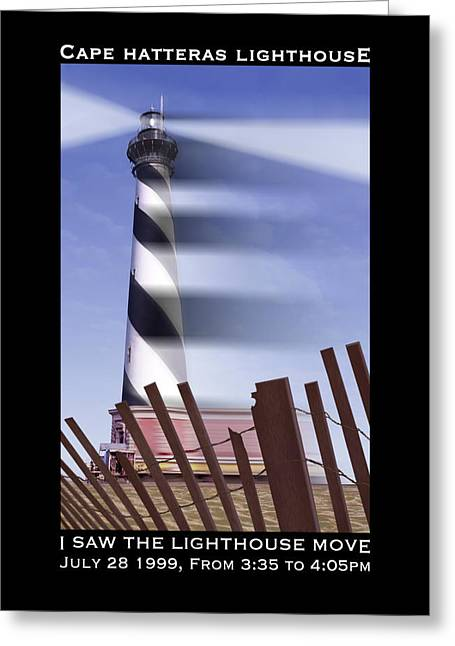 Bank Digital Greeting Cards - I Saw The Lighthouse Move Greeting Card by Mike McGlothlen