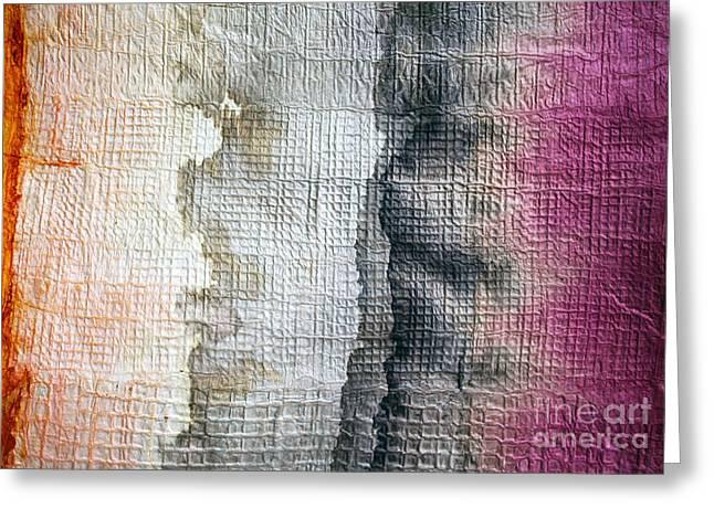 Traditional Tapestries - Textiles Greeting Cards - I See Kapa People Greeting Card by Dalani Tanahy