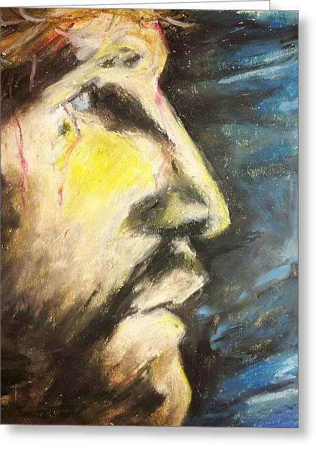 Jesus Pastels Greeting Cards - I See Greeting Card by Richard James