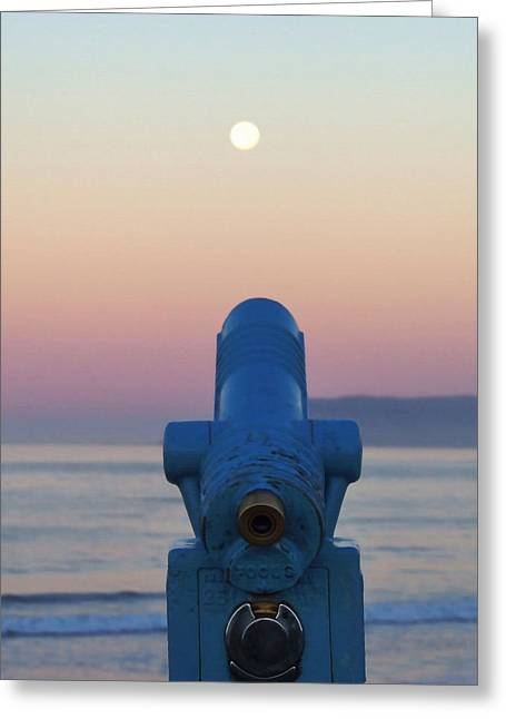 Moon Beach Greeting Cards - I See the Moon Greeting Card by Art Block Collections