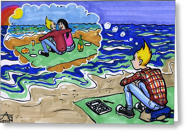 Daydream Drawings Greeting Cards - I Still Miss Someone Greeting Card by John Ashton Golden