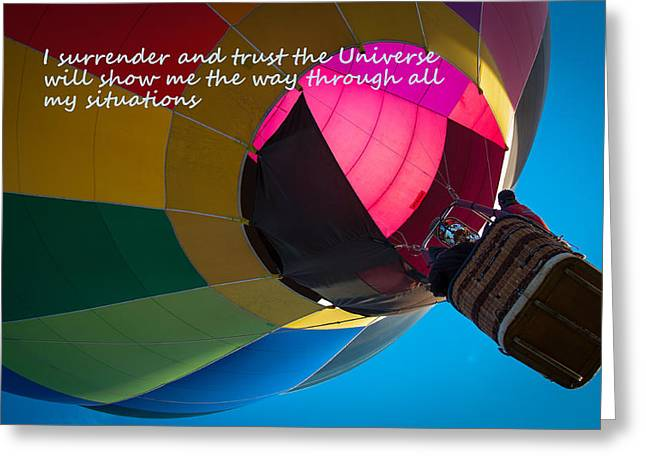Affirmation Greeting Cards - I Surrender and Trust Greeting Card by Patrice Zinck