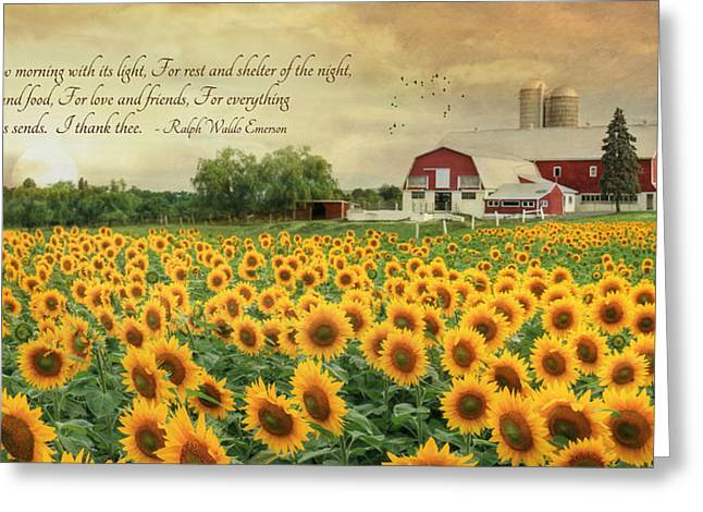 Waldo Greeting Cards - I Thank Thee Greeting Card by Lori Deiter