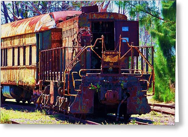 Old Caboose Greeting Cards - I Think I Can Greeting Card by Chuck  Hicks