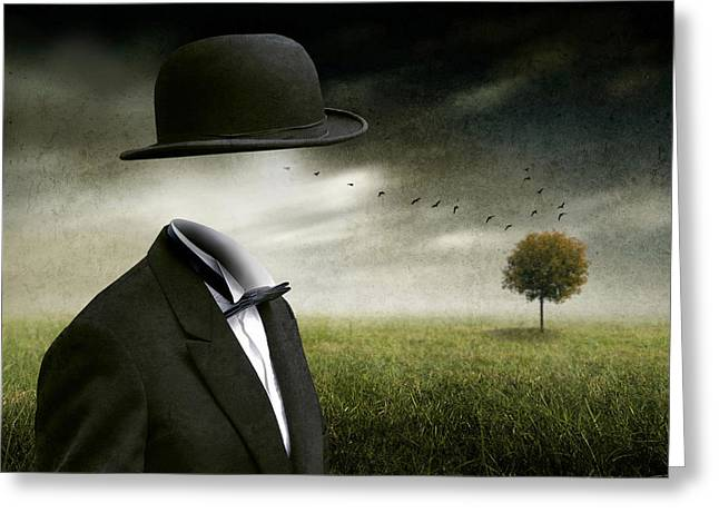 I Think, I'm A Dreamer Greeting Card by Ben Goossens