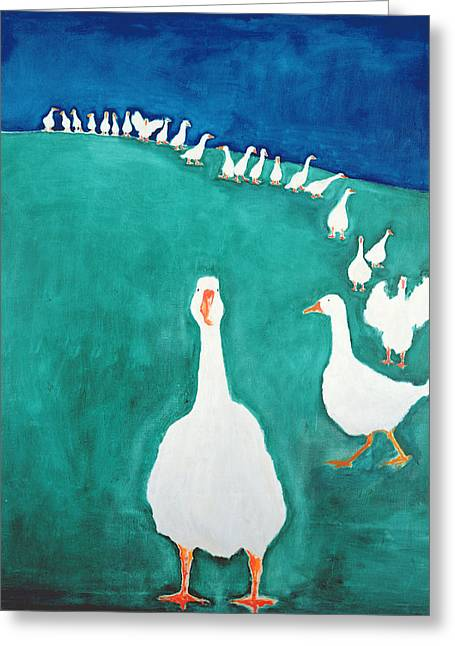 Gaggle Greeting Cards - I Think Its Lunch Time, 2000 Greeting Card by Jacob Sutton