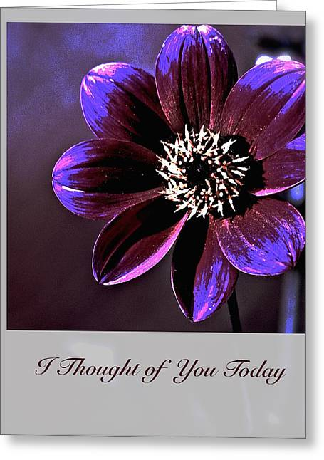 Positive Attitude Greeting Cards - I Thought of You Today Greeting Card by Debbie Nobile
