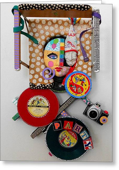 Vintage Sculptures Greeting Cards - I Thought You Said You Wanted To Party Greeting Card by Keri Joy Colestock