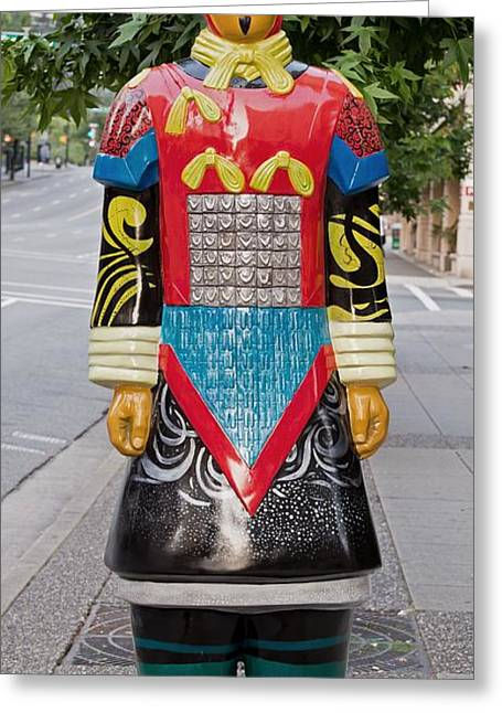 Shaanxi Province Greeting Cards - I Through the Space of Time - Terracotta Warrior Greeting Card by David Oberman