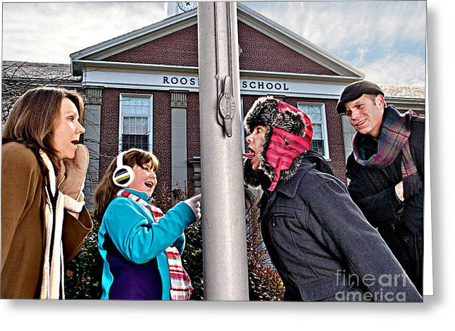 A Christmas Story Greeting Cards - I Triple Dog Dare You Greeting Card by Mark Miller