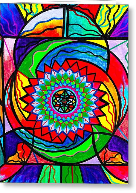 Allopathy Paintings Greeting Cards - I Trust Myself to Create Greeting Card by Teal Eye  Print Store