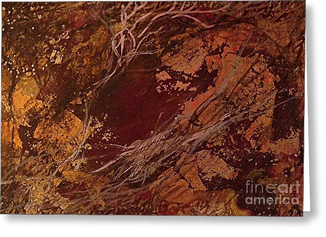 Red And Gold Leaves Greeting Cards - I twigs  Greeting Card by Delona Seserman