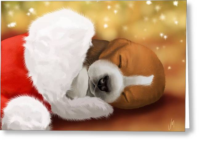 Beagle Prints Greeting Cards - I wait... Greeting Card by Veronica Minozzi