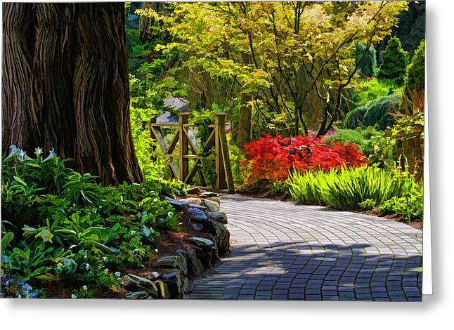 I Walk Through The Garden Alone Greeting Card by Jordan Blackstone