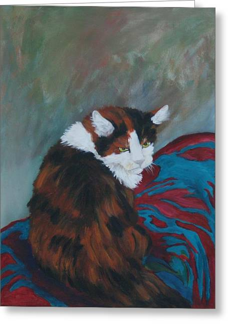 I Want My Lap Greeting Card by Gail Daley